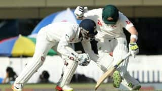 India Vs Australia 2017: Watch how Steve Smith-Wriddhiman Saha wrestle and almost make a dead ball count