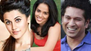 Saina Nehwal wished Happy Birthday by Sachin Tendulkar, Taapsee Pannu, Virender Sehwag & other Badminton star's fans!