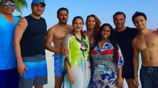 Salman Khan looks drool worthy as he poses SHIRTLESS with Iulia Vantur and Khan-daan at Ahil's first birthday celebrations (see picture)