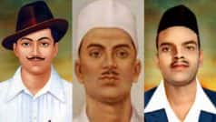 Shaheed Diwas 2017: Shaheed Bhagat Singh, Rajguru and Sukhdev remembered on Martyr's Day; Narendra Modi,Virendra Sehwag and Twitterati pay tribute