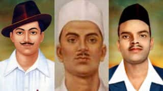 Shaheed Diwas 2017: Shaheed Bhagat Singh, Rajguru and Sukhdev remembered on Martyr's Day; Narendra Modi,Virender Sehwag and Twitterati pay tribute