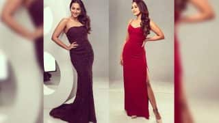 Sonakshi Sinha as Nach Baliye 8 judge flaunts two smoking RED hot looks for the dance reality show shoot!