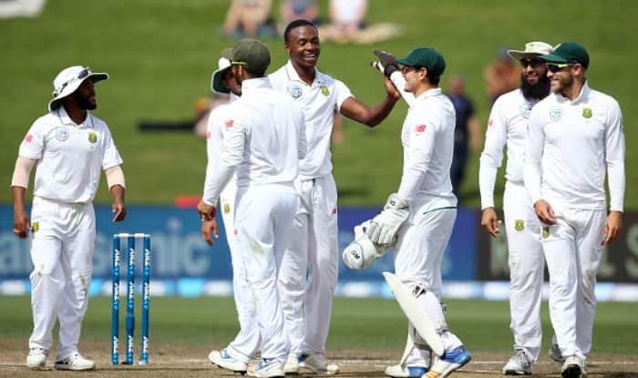 Kagiso Rabada of South Africa celebrates the wicket. (Getty Image)