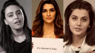 Kriti Sanon, Swara Bhaskar & Taapsee Pannu solve your cleavage problems and question the importance of Women's Day! (Videos)