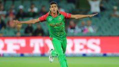 Taskin Ahmed, the Bangladeshi fast bowler, picks up a hat-trick against Sri Lanka in Dambulla ODI
