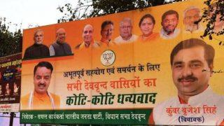 BJP MLA Brijesh Singh's posters rename Muslim-dominated Deoband as Deovrind