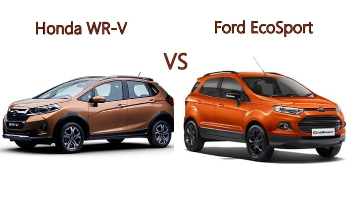 honda wr v vs ford ecosport price specifications features comparison. Black Bedroom Furniture Sets. Home Design Ideas