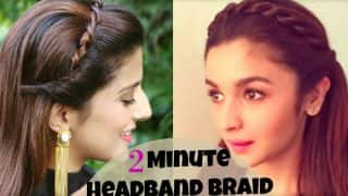 Step-by-step guide to Alia Bhatt's amazing headband braid hairdo