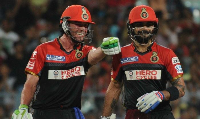 File picture of AB de Villiers and Virat Kohli.