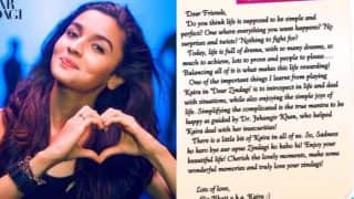 Alia Bhatt's open letter will make you fall in love with zindagi once again!
