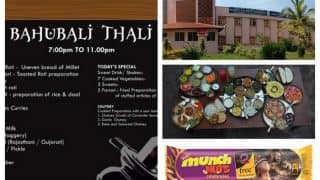 Baahubali 2 fever grips nation! Baahubali Thali, Chocolates, Crackers, Phone, Bahubali College of Engineering found!