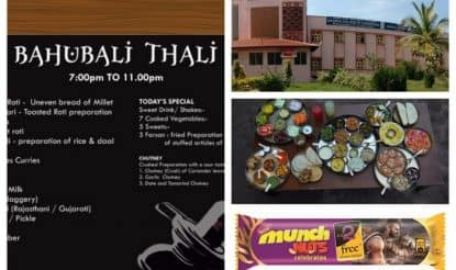 Baahubali 2 fever grips the nation! Baahubali Thali, Chocolates, Crackers, Phone, Bahubali College of Engineering found!