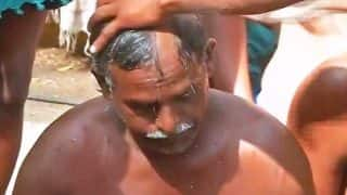 Jantar Mantar: Protesting Tamil Nadu farmers get heads shaved, demand drought relief from Centre
