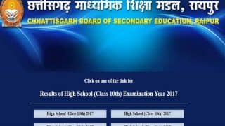CGBSE 10th Result 2017 Declared, check HSC Results at cgbse.net link here