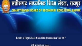 CGBSE Class 10 Result 2017 today at cgbse.net: Check results from 10 am