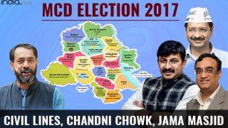 MCD Election results 2017: BJP wins Civil Lines and Chandni Chowk ward;Congress bags Jama Masjid