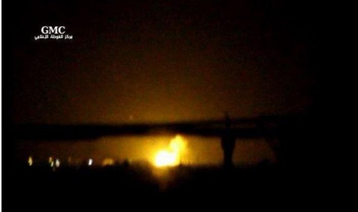 Huge explosion near Damascus International Airport