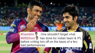 Gautam Gambhir slams MS Dhoni haters in style! Twitterati hails Kolkata Knight Riders' iconic captain