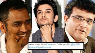Sushant Singh Rajput thrashed by Sourav Ganguly fans on Twitter! Reel MS Dhoni taught a lesson of his lifetime