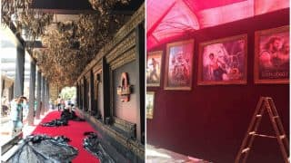 Following Vinod Khanna's death, the larger than life Baahubali 2 premiere set gets a quick wrap up