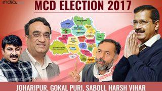 MCD Election Results 2017: BJP wins Joharipur, Gokal puri, Saboli and Harsh Vihar wards