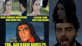 Half Girlfriend trailer meets Aao Kabhi Haweli Pe meme! Arjun-Shraddha Kapoor to get nightmares reading jokes about their film