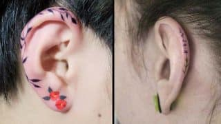 Helix tattoos are the next cool ear art trend on Instagram (See Pictures)