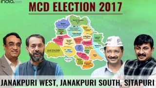 MCD Election results 2017: BJP wins Janakpuri West, Janakpuri South, Sitapuri and Milap Nagar ward
