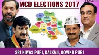 MCD Election Results 2017: BJP wins Sri Niwas Puri, Kalkaji; Congress bags Govindpuri