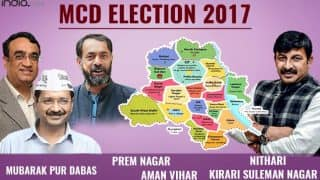 BJP wins Mubarak Pur Dabas, Kirari Suleman Nagar, Nithari, AAP wins Aman Vihar, Prem Nagar wards