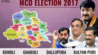 MCD Elections 2017: Kondli, Gharol, Dhallupura, Kalyanpuri ward election results; BJP wins polls