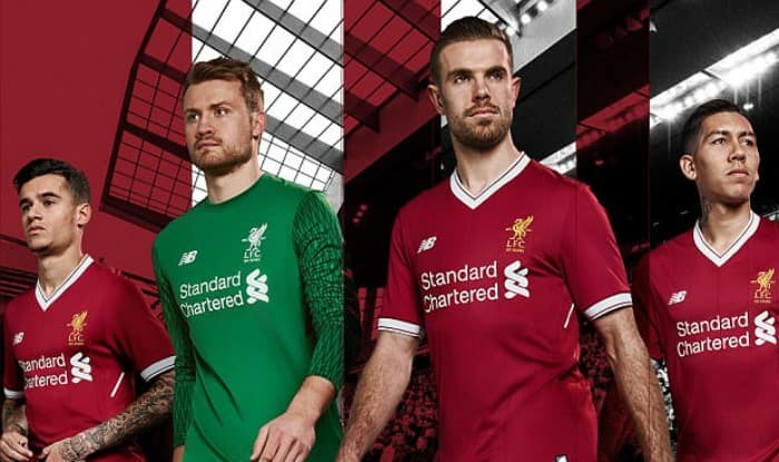 Liverpool FC unveil new 2017-18 home kit for 125th anniversary season LFC  ... a1dacb1bb