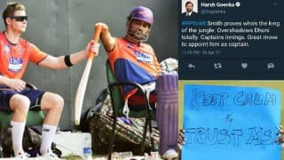 MS Dhoni fans shut down Rising Pune Supergiant owner Harsh Goenka for his controversial tweet calling Steven Smith a better captain!