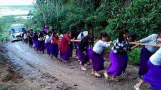 Viral: Manipur school girls pull bus out of mud! GIRL POWER at its best!