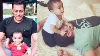 Salman Khan and nephew Ahil hanging out at Da-Bangg Tour in Hong Kong is too cute to miss!