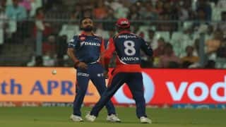 IPL 2017: Watch how Amit Mishra and Sanju Samson make a mess of a catch as DD lose to KKR
