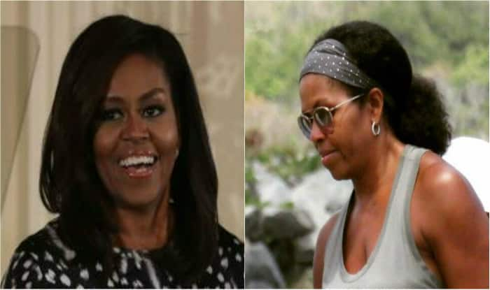 picture of michelle obama sporting her natural hair goes