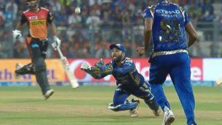 IPL 2017: पार्थिव पटेल ने लिया इतना शानदार कैच, हरभजन सिंह जश्न मनाने लगे!