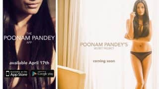 Poonam Pandey posts new hot topless picture: Actress is ready to launch 'The Poonam Pandey App' on April 17!