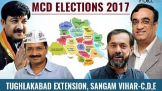 MCD Election results 2017: AAP wins Sangam Vihar-C, Sangam Vihar-D and Sangam Vihar-E ward; BJP bags Tughlakabad Extension