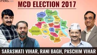 MCD Election Results 2017: BJP wins Saraswati Vihar, Rani Bagh and Paschim Vihar wards
