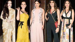 Priyanka Chopra throws a lavish bash; bonds with Rekha, Kangana Ranaut, Madhuri Dixit & Sushmita Sen!