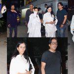 Anil Kapoor, Padmini Kolhapuri attend Sonam Kapoor's maternal grandmother Draupadi Hingorani Bhambani's funeral (View pics)