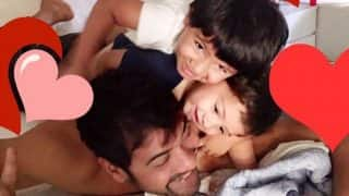 Kumkum Bhagya actor Shabbir Ahluwalia's picture with kids Azai and Ivarr will melt your heart!