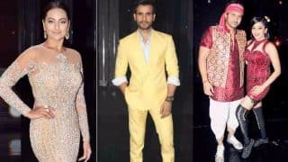 Nach Baliye 8: Sonakshi Sinha glitters like a diamond, host Karan Tacker wears a yellow suit, Mona Lisa and others twin with their better halves! (View Pics)
