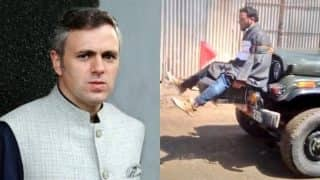 Omar Abdullah posts video of Kashmiri youth tied to Indian Army jeep as human shield against stone pelters