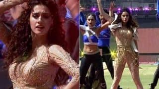 Disha Patani sizzles as the golden girl for KXIP's IPL 2017 Opening Ceremony in Indore! Watch Video and See Pictures
