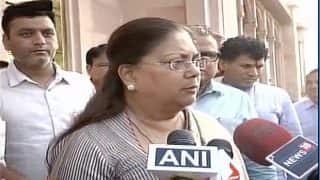 Alwar lynching: CM Vasundhara Raje promises justice, says 'such things won't be tolerated in Rajasthan'
