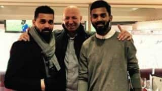 Ruled out from IPL, KL Rahul and Murali Vijay watch Manchester United vs Everton at Old Trafford