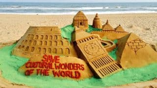 World Heritage Day 2017: Sand artist Manas Kumar Sahoo depicts need to save our monuments